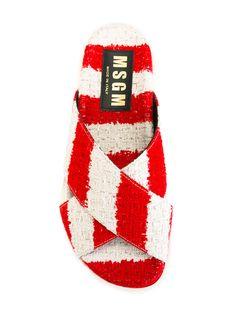 MSGM wrap front sandals