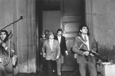 1973 - Democratically elected President Salvador Allende moments away from death during military coup at Moneda presidential palace in CHile. (Orlando Lagos)