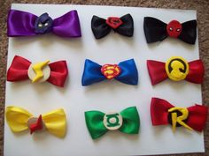 Super Hero Hair Bows. $2.00, via Etsy.