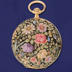 Victorian 14k Yellow Gold And Enameled Hunte Case Pocket Watch With Longinnes Case  c. 1900