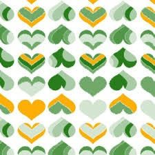 Green Hearts PUL Fabric 20x20 by fabricstockpiler on Etsy, $3.25