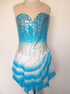 http://www.ebay.com/itm/NEW-ICE-SKATING-TWIRLING-BATON-DRESS-ADULT-XS/350950478628 | New Ice Skating Twirling Baton Dress Adult XS | eBay