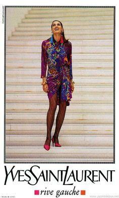 Yves Saint Laurent ss 1991 Yasmin Le Bon by Arthur Elgort
