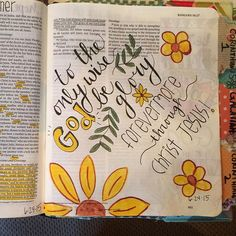 Glory to God forever!  #journalingbible #biblejournaling #biblejournalingcommunity