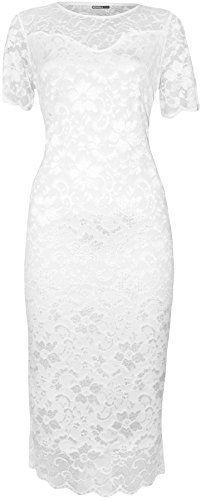 WearAll Plus Size Women's Lace Lined Short Sleeve Midi Dress - White - US 18-20 (UK 22-24) WearAll http://www.amazon.com/dp/B00MXYLBYA/ref=cm_sw_r_pi_dp_j0Dvub1414PDV
