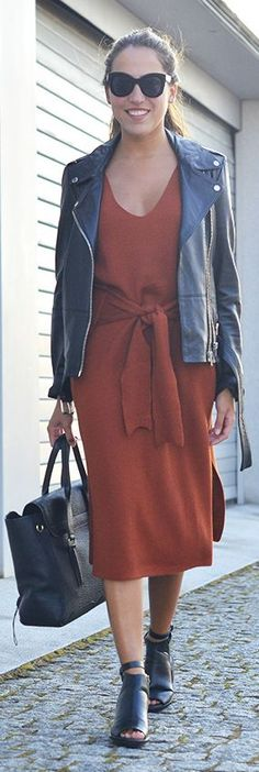 Style By Three Burnt Orange And Black Fal Inspo
