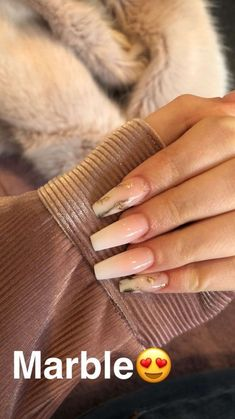 In seek out some nail designs and ideas for your nails? Here is our list of 14 must-try coffin acrylic nails for stylish women. Gorgeous Nails, Pretty Nails, Milky Nails, Nail Effects, Dope Nails, Cute Acrylic Nails, Marble Nails, Nagel Gel, Nail Inspo
