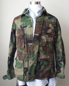 6b179f22f0c US Military BDU green camouflage  coat size M (100% original ) visit our
