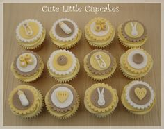 Neutral coloured Baby Shower cupcakes