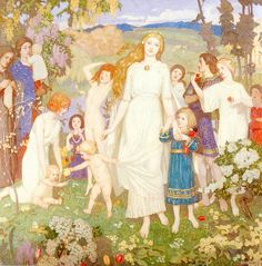 St. Briggitt~ John Duncan (Scottish 1866-1945)