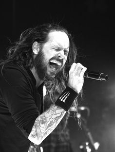 """JONATHAN DAVIS of KORN singing on stage  """"The World's No:1 Online Heavy Metal T-Shirt Store"""". Check it out our Metalhead Clothing and Apparel Store, Satanic Fashion and Black Metal T-Shirt Stores; www.HeavyMetalTshirts.net"""