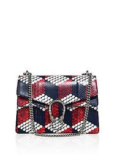 Gucci Dionysus Medium Cube-Print Python Shoulder Bag. www.italianist.com