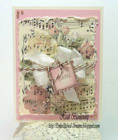 Crafty Secrets Rose Music Note Cards