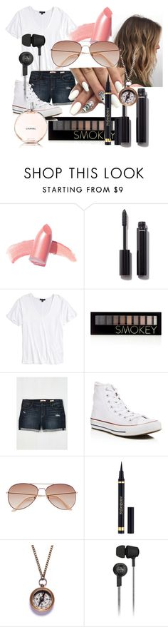 """I'd tuck in the shirt..."" by maralf-1 on Polyvore featuring Elizabeth Arden, Chanel, Topshop, Forever 21, Converse, H&M, Yves Saint Laurent, We Are All Smith and Original Penguin"