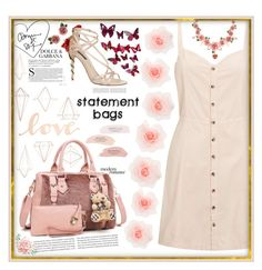 """Statement bags"" by aixa0303 ❤ liked on Polyvore featuring Umbra, Miss Selfridge, Dolce&Gabbana and Primitives By Kathy"