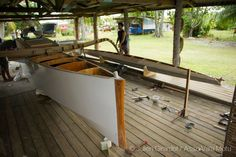 Visit the Facebook page for the story of this va'a motu project. This is not my design and it is considerably bigger. There are sev...