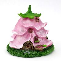 description~ This adorable Micro Flower House from a Rose in Pink hues is a perfect addition to any terrarium or tiny fairy garden. Designed inside of an upside down rose, it features a wealth of details that make it one of the most charming homes. Mini Fairy Garden, Fairy Garden Houses, Fairies Garden, Miniature Fairy Gardens, Miniature Houses, Clay Projects, Clay Crafts, Rose Garden Design, Pink Garden