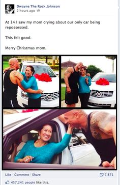 The Rock Gave His Mom An Amazing Christmas Present