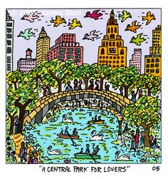 "James Rizzi ""A Central Park for Lovers"""