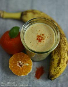Blue Almonds : Koktajl Mandarynka na Ostro / Spicy Mandarin Smoothie (raw vegan)