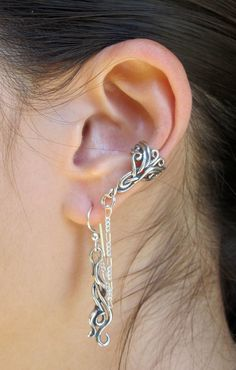 Silver Arabesque Bajoran Ear Cuff by martymagic on Etsy, $79.00