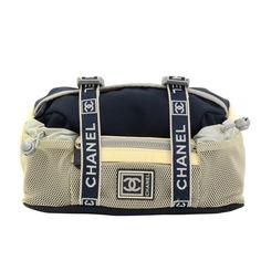Chanel Sports Line Navy x White Nylon Waist Pouch Bag | 1stdibs.com