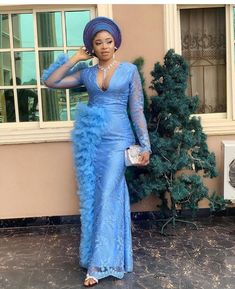 2020 Beautiful Stand Out Asoebi Styles - Excelloaded Best African Dresses, African Fashion Ankara, African Inspired Fashion, Latest African Fashion Dresses, African Attire, African Style, African Beauty, Lace Dress Styles, Aso Ebi Styles