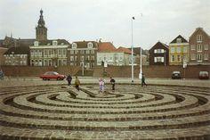 Nijmegen, Labyrinth Waalkade, Nederland