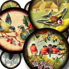 New  Flora and Fauna digital collage sheet in 15 inch by piddix, $3.50