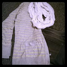 Cardigan Gray and yellow cardigan a.n.a Tops