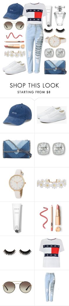 """""""Red white and blue//"""" by eva-l118 ❤ liked on Polyvore featuring SO, Vans, STELLA McCARTNEY, Frederic Sage, Humble Chic, Rodin, Tommy Hilfiger, Prada and Avon"""