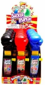Sucker punch candy favors provide party décor and a Knock Out treat idea.  Get more ideas at cutepartyideas.com