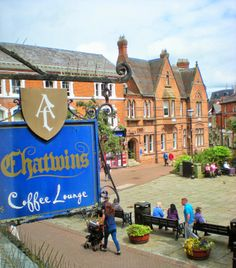 mancunian wave: Skywatch Friday: Nantwich in blue - lovely little town centre in Cheshire...