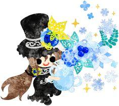 フリーのイラスト素材黒いシルクハットの少女と不思議な花瓶  Free Illustration A black silk hat girl and a mysterious vase   http://ift.tt/2pNwPBD