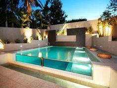 Modern Glass Pool Photo : Norfolk Pools Brisbane QLD