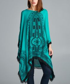 Another great find on #zulily! Teal Geometric Sidetail Tunic #zulilyfinds