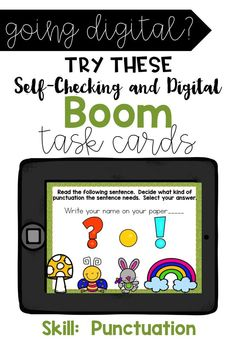 If you haven't tried Boom Learning, you must! The program is free, allows for digital learning, gives instant feedback, and great for reports. Perfect to add to the classroom. This skill covers Ending Punctuation. Great for grades Reading Skills, Guided Reading, Teaching Reading, Teaching Math, Teaching Resources, Teaching Materials, Teaching Ideas, Motivational Activities, Google Classroom