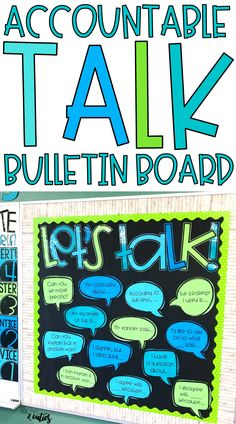 Raise the level of classroom discourse and hold your students accountable for deeper conversations with this EDITABLE accountable talk bulletin board! 5th Grade Classroom, Middle School Classroom, Science Classroom, Classroom Decor, Preschool Bulletin, Holiday Classrooms, High School, Classroom Projects, English Classroom