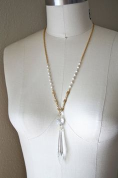Chandelier Crystal Necklace by WildPonyCollection on Etsy ...