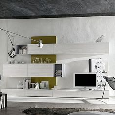 Awesome Grey Wall Unit