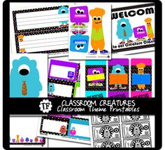 Free Classroom Creatures Classroom Theme by Krissy.Venosdale, via Flickr