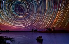 A knowledge of science and astronomy can create great art with   these star trails, don't you think?