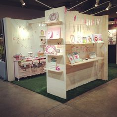 Christmas Village Booth Open & Ready for shopping! #christmasvillage #craftshowbooth #instagrambham