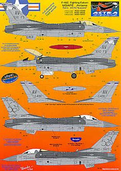 F-16C Aviano. 88-413 510FS Buzzards Flagship; 89-491 510FS; 89-050 50th Anni 1997 scheme Decals, Aircraft, Map, Cutaway, Movie Posters, 50th, Tags, Aviation, Sticker