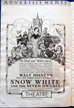 the original snow white movie advertising - Google Search