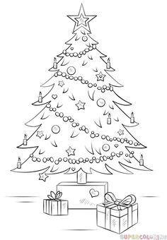 How to Draw a Christmas Tree - Things to Draw When You're Bored ...