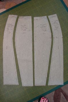 Curvy Color Block Ponte Knit Pencil Skirt pattern drafting. Love the style of…