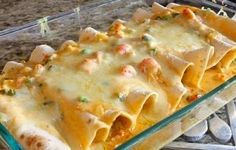 Crab and Shrimp Enchiladas - Here's a spicy Cajun favorite that is perfect for anytime you want a fabulous meal.