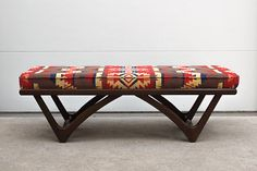 Vintage Mid Century Custom Upholstered by HomesteadSeattle with Pendelton fabric