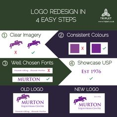 We redesigned the logo for Murton Equestrian Centre to produce a cleaner, sharper, more professional logo that our client is exceedingly happy with. https://www.murtonequestriancentre.co.uk